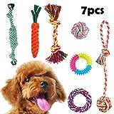 Chomang Hundespielzeug, 7er Spielset hundespielzeug große Hunde unzerstörbar welpenspielzeug aus Baumwolle & Naturkautschuk, hundespielzeug für Kleine Hunde