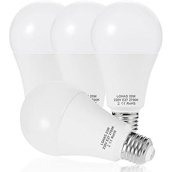 LOHAS® 23W E27 LED Lampen, Ersatz für 200W Glühlampen, 2500LM ...