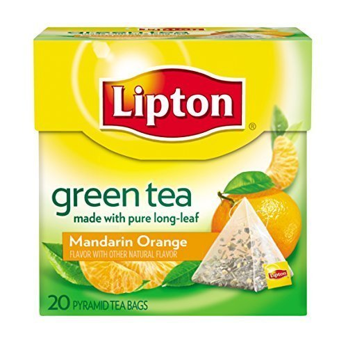 Lipton Green Tea, Mandarin/Orange, Premium Pyramid Tea Bag, 20-Count PackageQuantity: 1 Box (Premium Storage Box-grün)