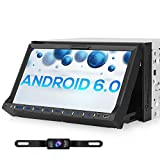 Pumpkin 1024*600 Android Car Stereo with Adjustable View Support iPhone iPod 2 Din Head Unit with DVD Player Support Sat Nav Bluetooth Radio DAB+ Phone Mirror WIFI SWC Subwoofer with Free Rear Camera