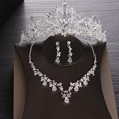 ure de Mariée Princesse de Mariage Accessoires de Cheveux de Mariage Ambiance Collier Boucles d'Oreilles Couronne ()