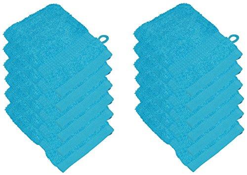 starlabels Serviettes Disponible en 15 couleurs et 5 dimensions doux saugstark 500 g/m², 100% coton, Öko Tex, Coton, Türkis, 15 cm x 21 cm