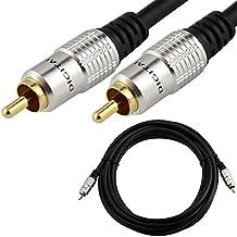 1M 1 RCA Phono macho Cable Digital Audio Coaxial SPDIF Coaxial Plomo Meter Oro Plomo
