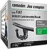 Rameder Attelage Col de Cygne Démontable avec Outil pour Fiat DOBLO Camionnette/Break + Faisceau 7 Broches (144492-08618-1-FR)
