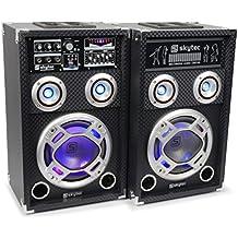Skytec KA-08 - Kit bafle karaoke con luces