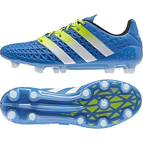 adidas Herren ACE 16.1 FG/AG Fußballschuhe Blau (Shock Blue/Semi Solar Slime/Ftwr White) 42 2/3 EU