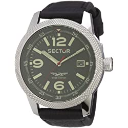 Sector Men's Quartz Watch with Grey Dial Analogue Display and Black Leather Strap R3251102001