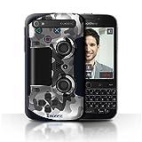 Stuff4 Hülle / Case für Blackberry Classic/Q20 / Weiß Tarnung Muster / Playstation PS4 Kollektion
