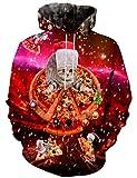 LAIDIPAS Felpe Unisex a Maniche Lunghe di Natale Felpe con Stampa al Neon Felpe grafiche 3D Abbigliamento Sportivo Animalier M