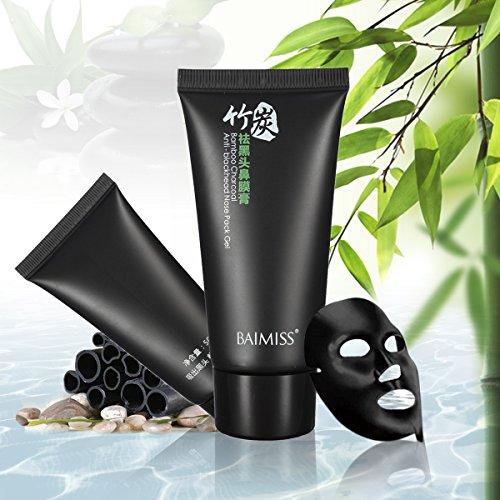 Bambuskohle Gesichtsmaske, Reinigungsmaske Tiefenreinigende Mitesser Akne Entferner Peel Off Schwarz Maske
