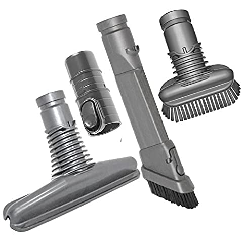 SPARES2GO Universal Crevice Upholstery Dirt Brush Mini Tool Kit for All Main Models of Dyson Vacuum Cleaners