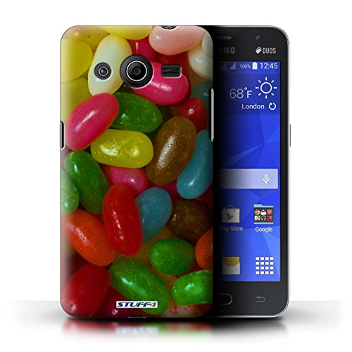 Kobalt® Imprimé Etui / Coque pour Samsung Galaxy Core 2 / Jelly Faces conception / Série Bonbons Jelly Beans