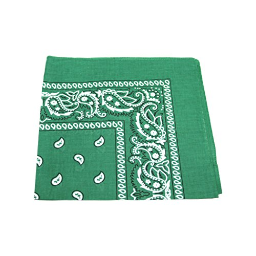 kelly-dark-green-cotton-bandana-scarf-square-black-white-paisley-by-tc-accessories
