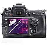 Nikon D300 Verre film protecteur - Set de 1 atFoliX FX-Hybrid-Glass à revêtement dur élastique 9H Protecteur de verre en plastique