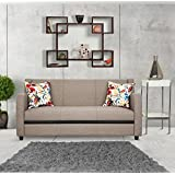 Urban Living Georgia Three Seater Sectional Sofa (Brown)