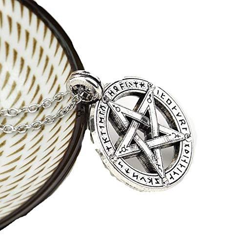 lität Retro Pentagramm Anhänger Halskette Drop Halskette für Frauen und Männer ()