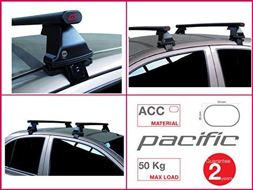 Proposteonline portabagagli Barre Tetto Auto portatutto per Smart forfour 2014 > Acciaio 1,27 m lf97us