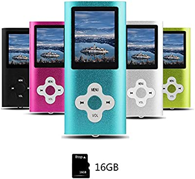 Btopllc MP3 Player with Radio and Expandable MicroSD Slot