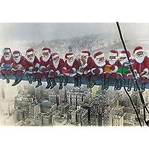 """Lustige Weihnachtskarte """"WEIHNACHTSMÄNNER IN NEW YORK"""" + Umschlag - witzige und originelle Grusskarte zu Weihnachten"""
