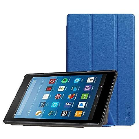 Fintie Hülle für Amazon Fire HD 8 Tablet (7. Generation - 2017) / Fire HD 8 (2016 Modell) - Ultra Slim Lightweight Schutzhülle Tasche mit Standfunktion und Auto Schlaf / Wach Funktion,