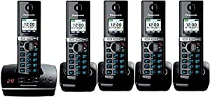 Panasonic KX-TG8065 Quint Cordless Phone with Answering Machine ( DECT,Hands Free Functionality )