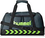 Hummel Authentic Sports Bag Sporttasche, Größe:S, grün(Dark Slate/Green Flash), 50x27x23cm, 23 Liter