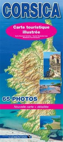 Corsica : Carte illustrée touristique