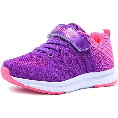 Hallenschuhe Kinder Turnschuhe Jungen Sport Schuhe Mädchen Kinderschuhe Sneaker Outdoor Laufschuhe für Unisex-Kinder Violett,29 EU=30 CN (Mädchen Schuhe Turnschuhe)