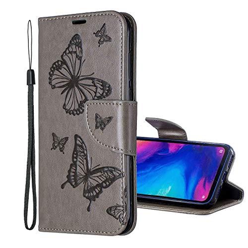 Nadoli Leder Hülle für Xiaomi Redmi Note 7,PU Leder Magnetverschluss Standfunktion Schmetterling Muster Brieftasche Schutzhülle Etui im Bookstyle für Xiaomi Redmi Note 7