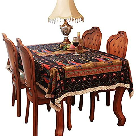 Stile Etnico panno tovaglie tavolo da pranzo arte cotone canapa TV europea panno di Cabinet Tavolino tovaglia, 140*220cm
