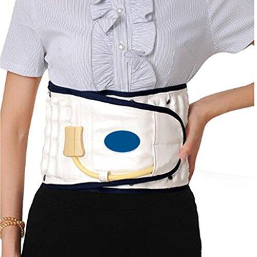 Physio Dekompression Rückengürtel Rückenstütze Rückenschmerzen Untere Lordosenstütze Rückenmassage Air Traction Brace (Weiß) -