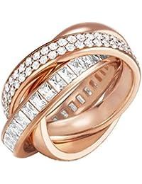 ESPRIT Glamour Damen-Ring ES-TRIDELIA GOLD teilvergoldet Zirkonia transparent Gr. 54 (17.2)