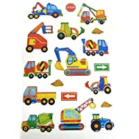 Digger Construction Stickers Kids Labels for Craft Decoration Card-Making
