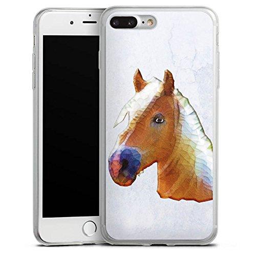Apple iPhone 8 Slim Case Silikon Hülle Schutzhülle Pferd Stute Hengst Silikon Slim Case transparent