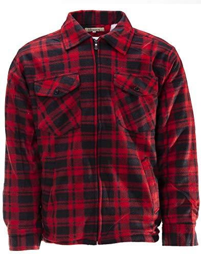 Preisvergleich Produktbild Thermojacke Arbeitsjacke Herren Holzfäller Wärmeisolierend,  Farbe:Rot,  Größe:L