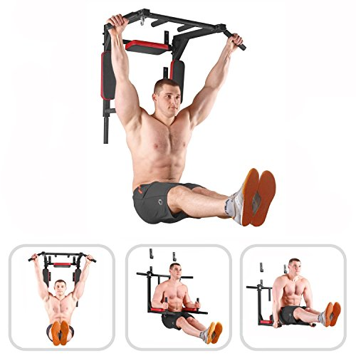 Xn8-Sports-Wall-Mounted-and-Removable-Pull-up-bar-Chin-up-bar-FLOOR-Use-Push-Ups-dip-bar-TRX-Straps-Strings-Slings-Punch-Bag-Hook-Cross-fit-Max-Load-220kgType-2-Floor-OR-Wall