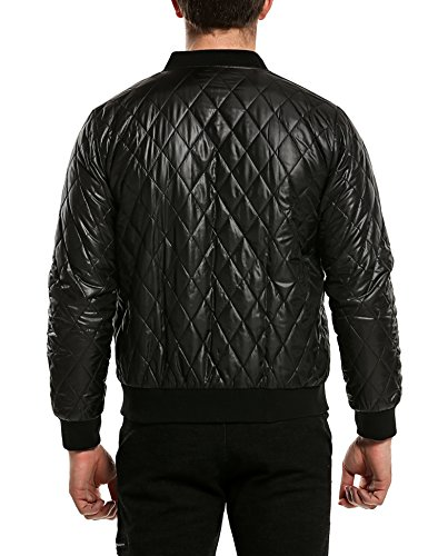Coofandy Herren Bomberjacke Steppjacke Diamond Winter Zipper Outdoor Jacke - 5