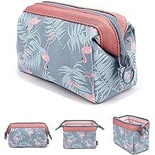 MLMSY - Bolsa para cosméticos, versátil, portátil y muy espaciosa, ideal para mujeres y niñas, diseño floral