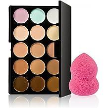 15 Colores Paleta De Contorno Corrector + 1 Belleza Maquillaje Impecable Batidora De Hojaldre