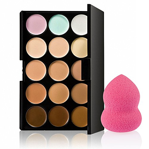 Imported 15 Colors Contour Concealer Palette+ 1 Beauty Flawless Makeup Blender Puff