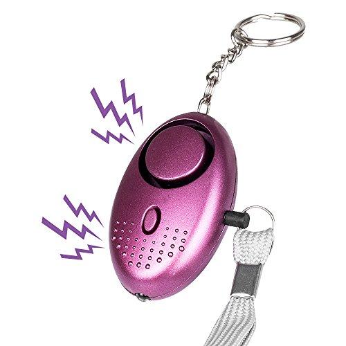 Senweit Tragbare Persönliche Sicherheit Alarm 125dB Notfall Attack Alarm für Frauen Kinder Schutz ideal für Shopping Reisen Joggen (lila)