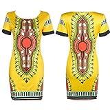 Koly Mujer Tradicional Imprimir africana dashiki bodycon Sexy vestido de ...