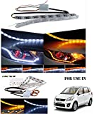 #9: Volga Day Time Running Light DRL With Orange Turn Signal Sequential Moving Led Light For Maruti Suzuki Ertiga
