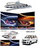 #4: Volga Day Time Running Light DRL With Orange Turn Signal Sequential Moving Led Light For Maruti Suzuki Ertiga