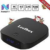 Leelbox Q2 Mini Android 7.1 TV Box Smart TV Box 2GB RAM+8GB ROM con BT 4,0. Soporta 4K(60HZ)/2.4G WIFI/3D/4K/HD/H.265