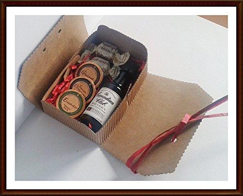 Exklusives Geschenk Canadian Club Whisky kanadischer Whisky 5cl Miniatur mit DreiMeister Edel Schokoladen und Whisky Fudge, kostenloser Versand