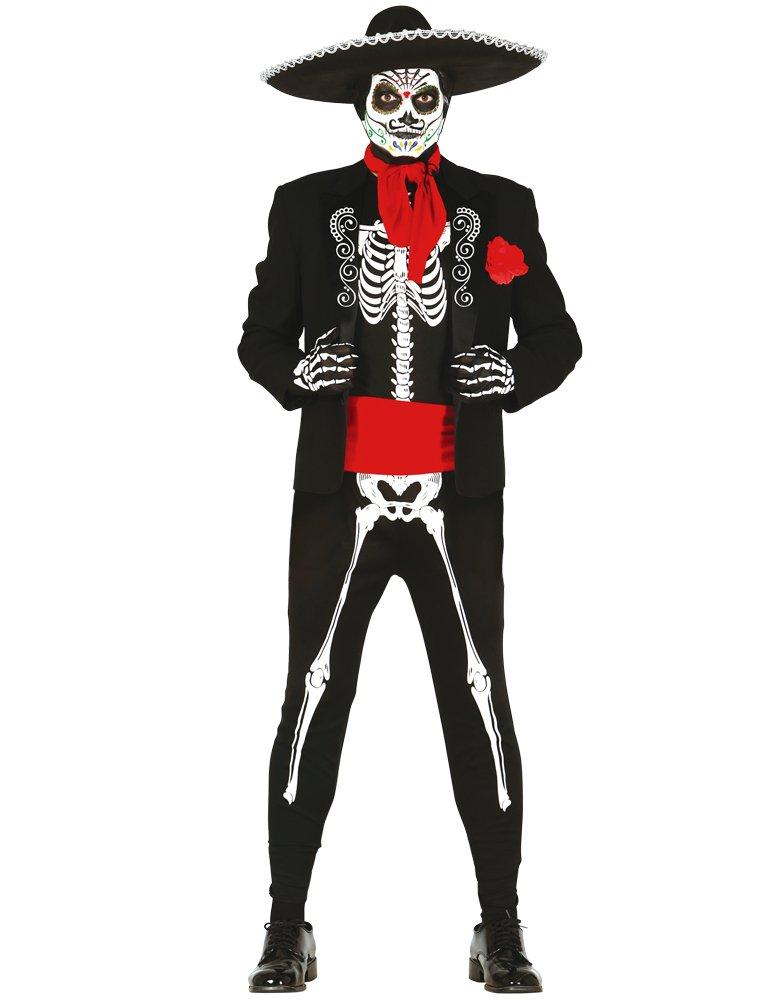 Disfraz de Esqueleto Mejicano para adulto