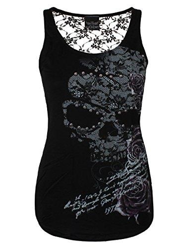 Alchemy England Abbigliamento Luna Rosa Kansas Top Nero  nero