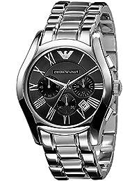 Emporio Armani AR0673 - Reloj para hombres, correa de acero inoxidable color plateado