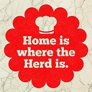 Fliesensticker home is where the herd is von sticky jam k che haushalt - Fliesensticker kaffee ...